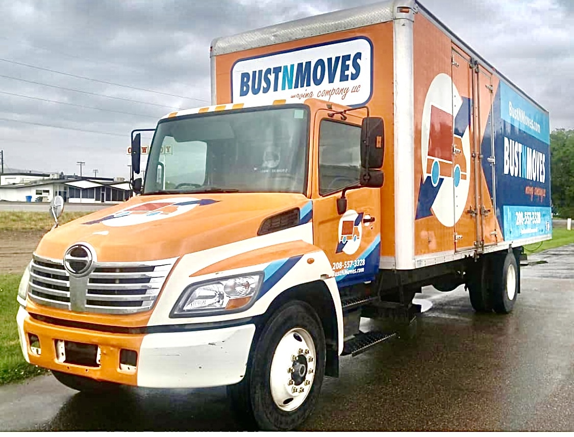 newly wrapped moving truck from BustNMoves in Pocatello Idaho